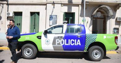 Aiola en la Comisaría de Chacabuco