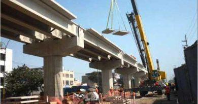 Viaducto en plena construcción