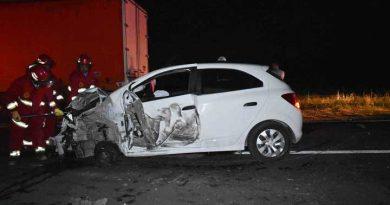 Estado en que quedó el auto tras el choque