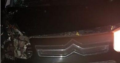 El automóvil Citroen CA Picasso involucrado en el accidente.
