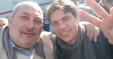 Ángel Olivetto junto a Axel Kicillof en Avellaneda.