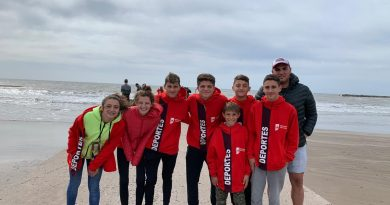 Atletas de Rawson en Mar del Plata