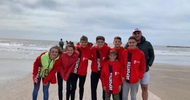 Los atletas de Rawson en Mar del Plata.