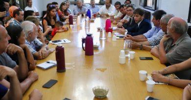 Productores agropecuarios reunidos con Kicillof