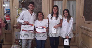 Los alumnos en la Casa de la Cultura