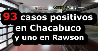 93 casos positivos de Covid-19 en Chacabuco y uno en Rawson