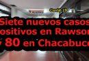 Covid-19: Siete nuevos casos positivos en Rawson y 80 en Chacabuco