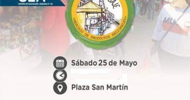 """""""1º Mercado de Productos Regionales"""" en plaza San Martín de Rawson"""