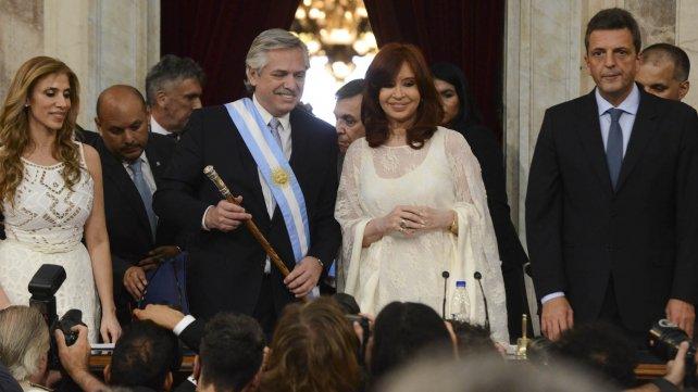 Alberto Fernández asumió como presidente.