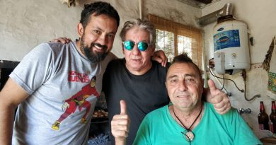 "De izq. a derecha: Néstor Rodríguez Correa, Daniel ""Tito"" Sueldo y Kotata."