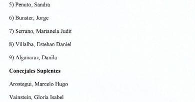 Lista de precandidatos de Enrique Chilano