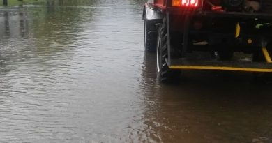 Calles anegadas por el agua en Castilla