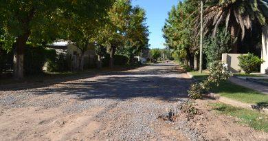 Piedra colocada en calle Reconquista, entre Pellegrini y Quintana en Rawson