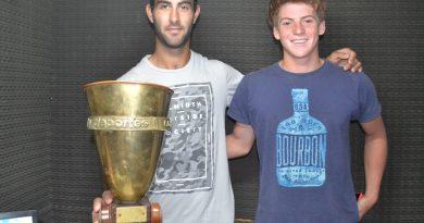Maxi Lemme, primero de la imagen a la izquierda, junto a Vicente Moras