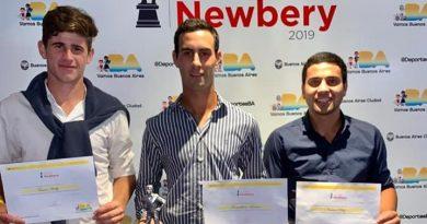 De izq. A derecha: Tomás Healy, Maximiliano Lemme –ganador de la terna- y Narciso Díaz