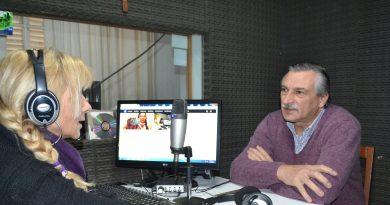 Aimoré Papini en la Radio de Rawson