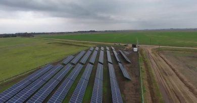 La imagen pertenece al parque fotovoltaico de Inés Indart, el mismo que se instalará en O'Higgins, con una capacidad de 400 kW.