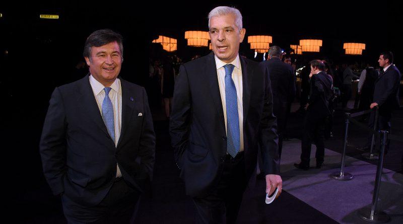 Daniel Pelegrina y el ex presidente de la Cámara de Diputados, Julián Domínguez