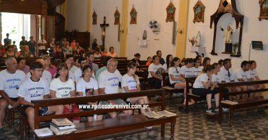 Los peregrinos en la Iglesia Local antes de la partida
