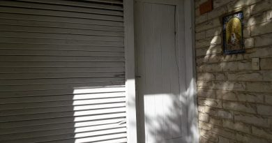 En la imagen se puede apreciar el daño ocasionado en la puerta, sobre el extremo superior derecho