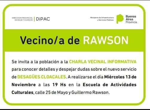 Invitación a vecinos de Rawson