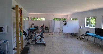 Vista de la sala de kinesiología