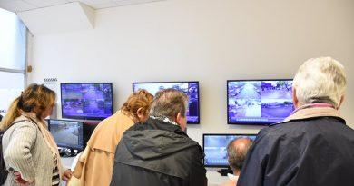 Seguridad: representantes de las Sociedades de Fomento visitaron el COM
