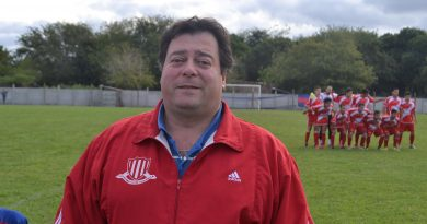 Sergio Palmieri, presidente de la Liga Deportiva de Chacabuco.