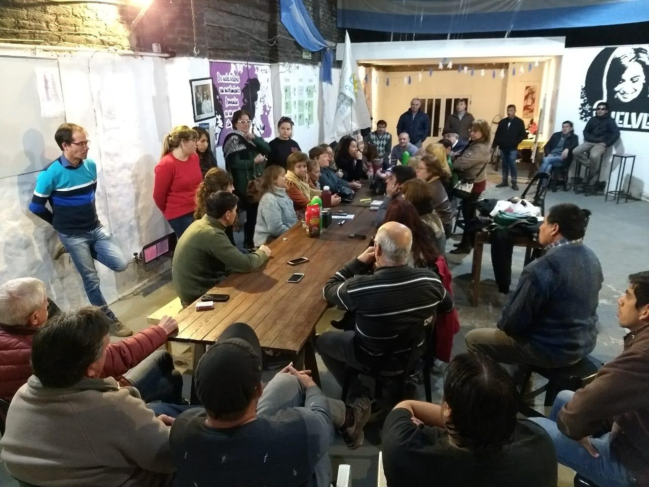 Reunión general de Unidad Ciudadana Chacabuco