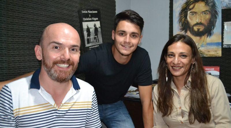 Ventimiglia, Salvatierra y Molina en los estudios de la Radio de Rawson