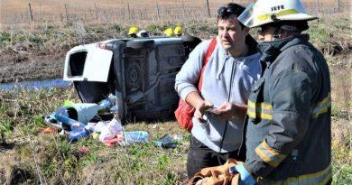 Familia de Chacabuco se accidentó en Ruta 30